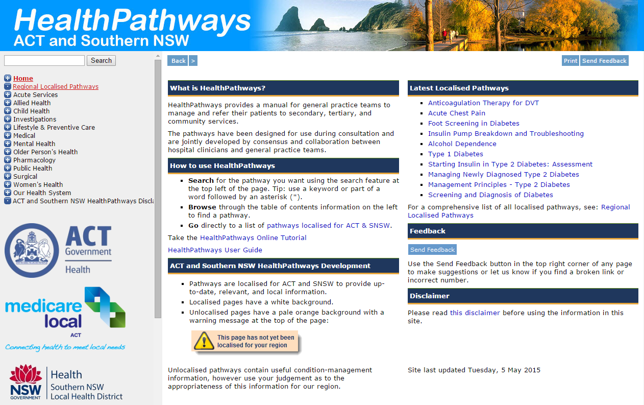 ACT & Southern NSW HealthPathways goes live