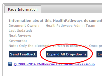 """Expand All Drop-downs"" button added to HealthPathways websites"