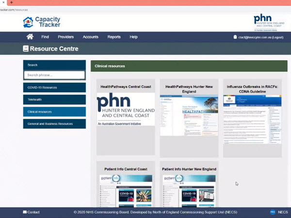 Hunter New England and Central Coast PHN implements NHS aged care capacity tracker in COVID-19 environment